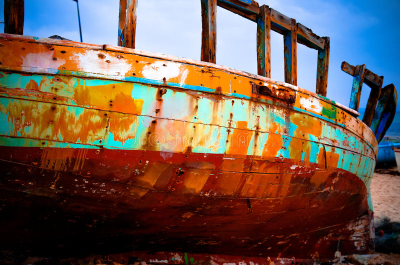 Color boat royalty free stock image
