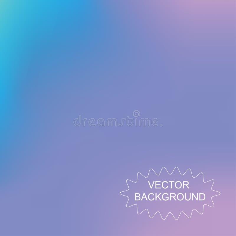 Color borroso malla abstracta del azul del fondo ilustración del vector