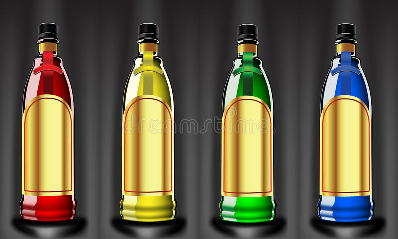 Color bottles royalty free stock photos