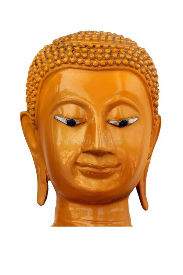 Color Brown de la cabeza de Buda fotografía de archivo