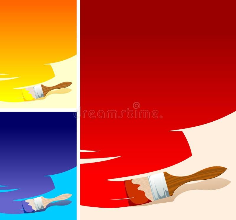 Color brush background stock illustration