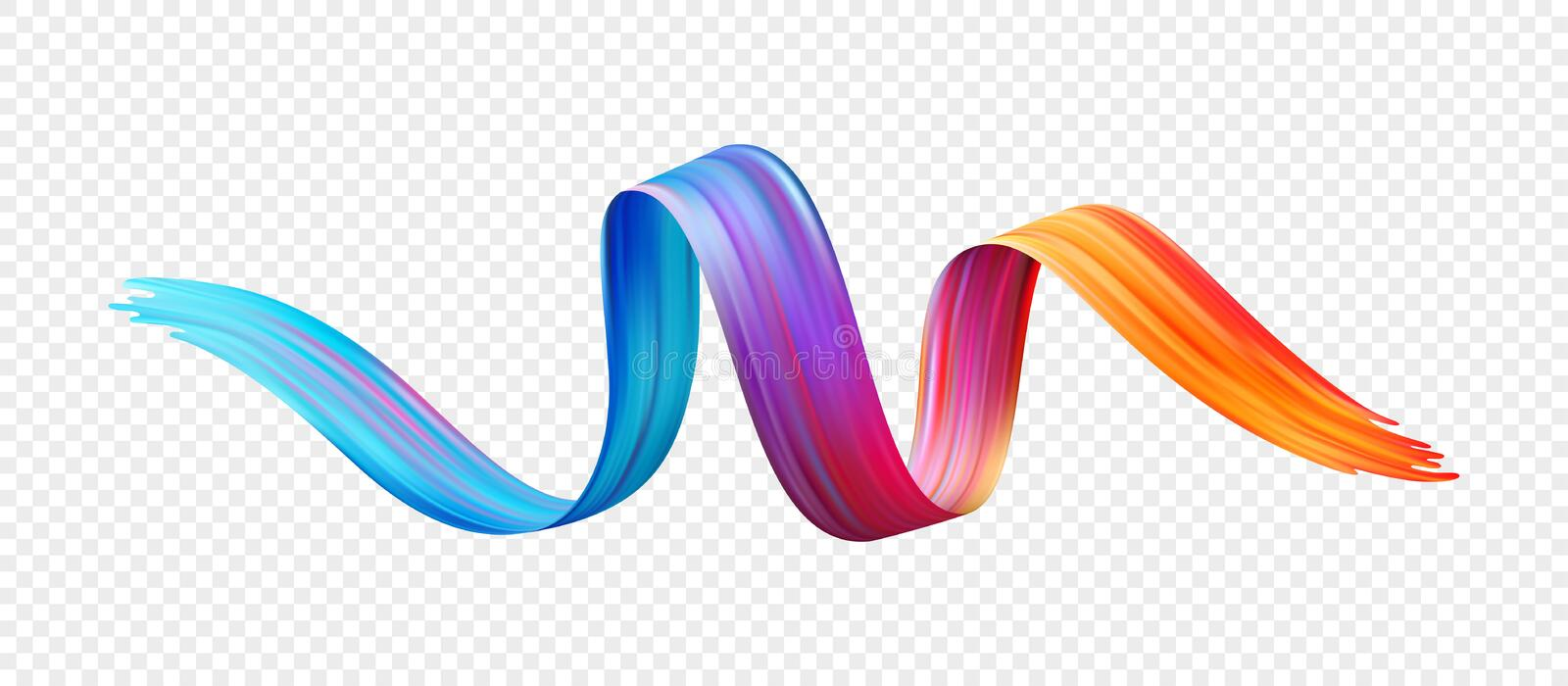 Color brushstroke oil or acrylic paint design element. Vector illustration royalty free stock photography