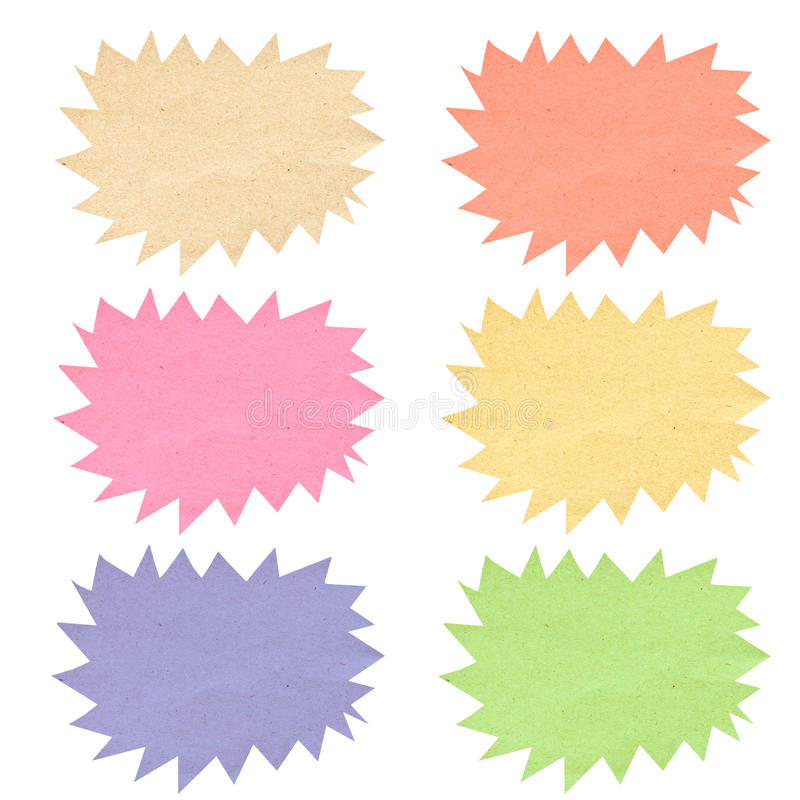 Free Color Bubble Tag Recycled Paper. Royalty Free Stock Image - 27991836