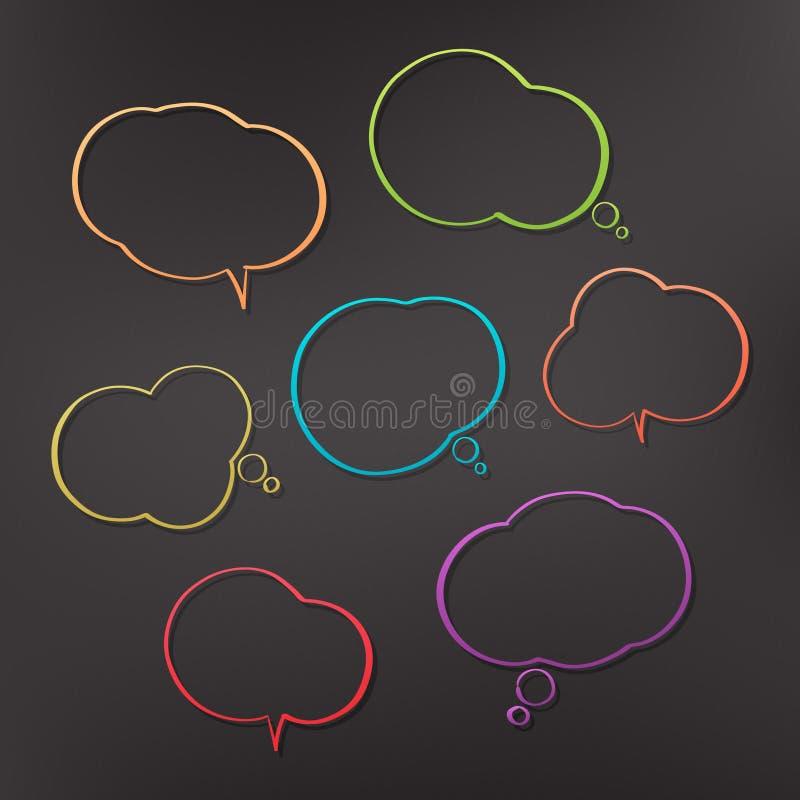 Color bubbles stock illustration