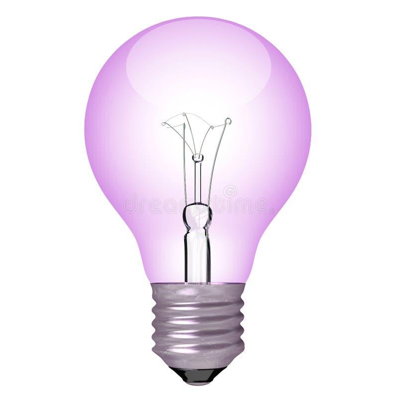 Color bulb light. Violet color bulb light isolated vector illustration