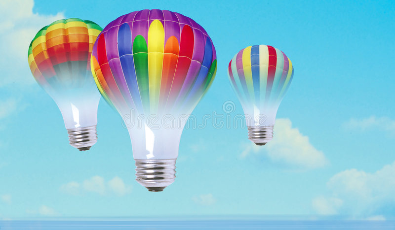 Color bulbs royalty free stock photo