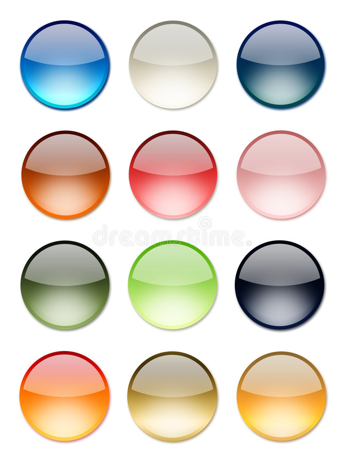 Free Color Button Royalty Free Stock Photo - 5848995