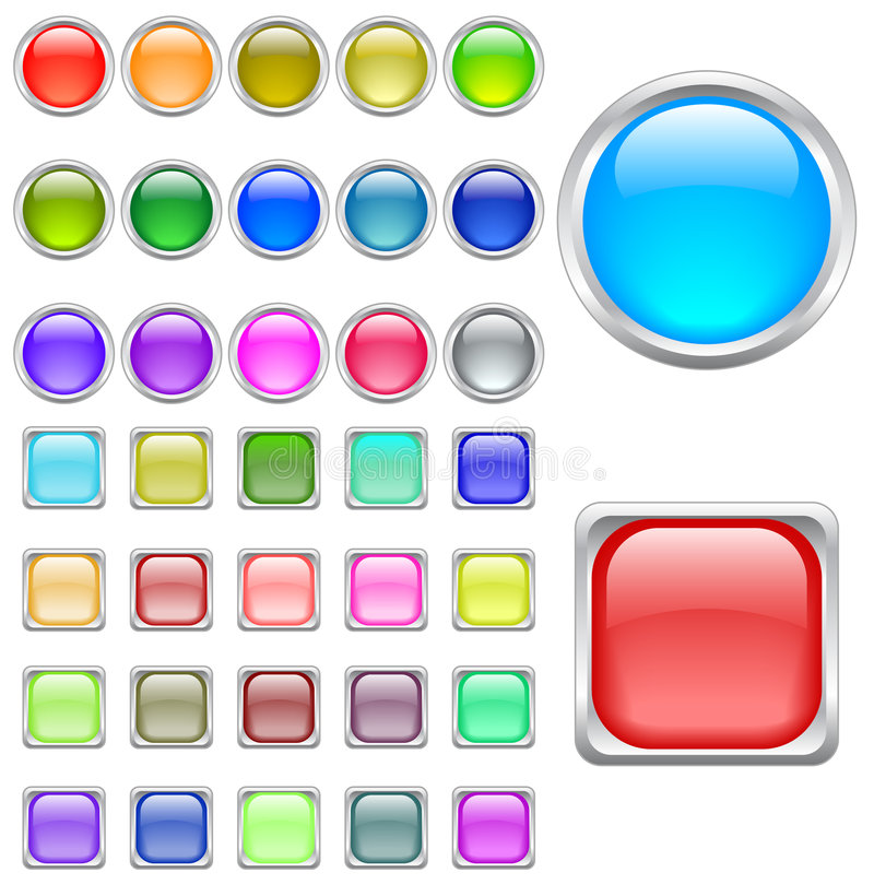 Color buttons vector illustration