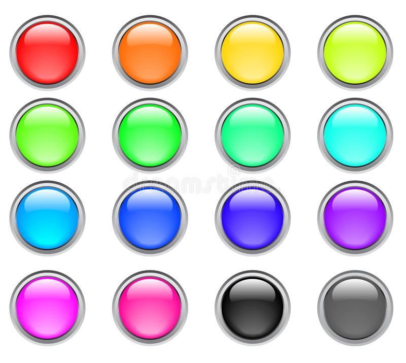 Download Color buttons stock illustration. Illustration of painting - 8665758