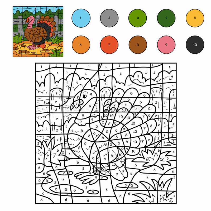 Free Color By Number (turkey) Stock Photo - 53579500