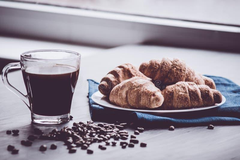 Color cambiante del compañero concepto de granos del postre y de café del desayuno Visión superior fotos de archivo libres de regalías