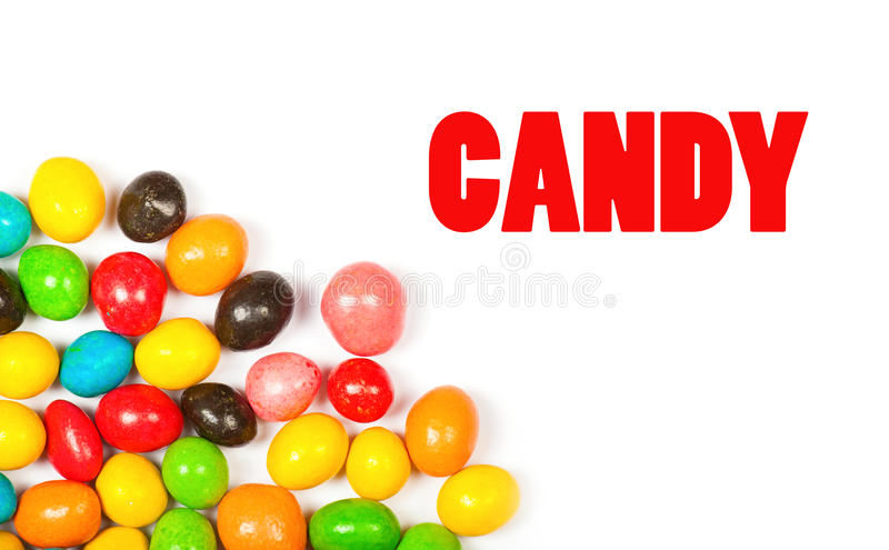 Color candy isolated royalty free stock photos