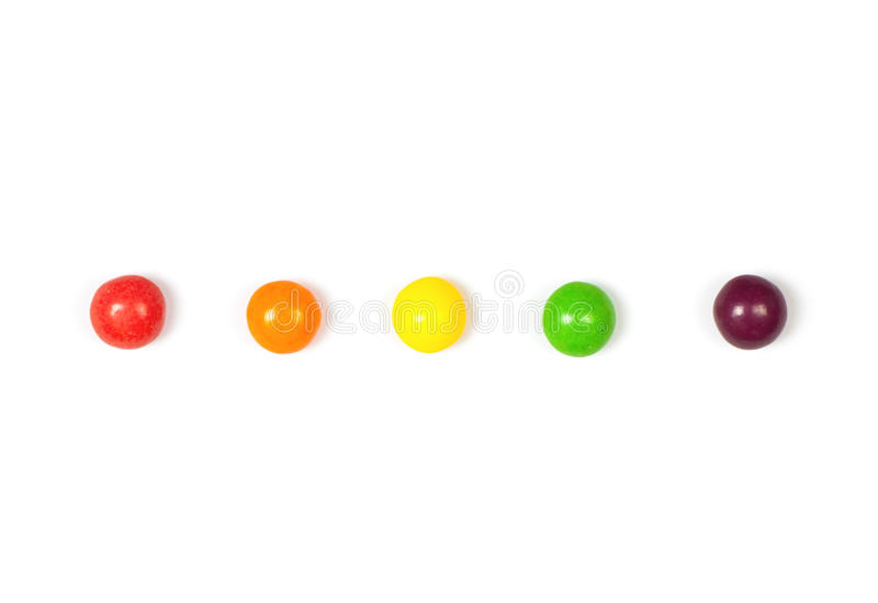 Color candy isolated royalty free stock image