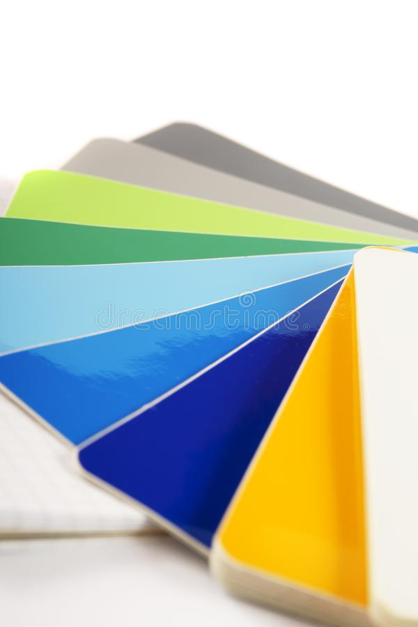 The color card. stock photos