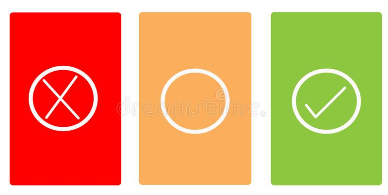 Color cards with symbols royalty free stock photo