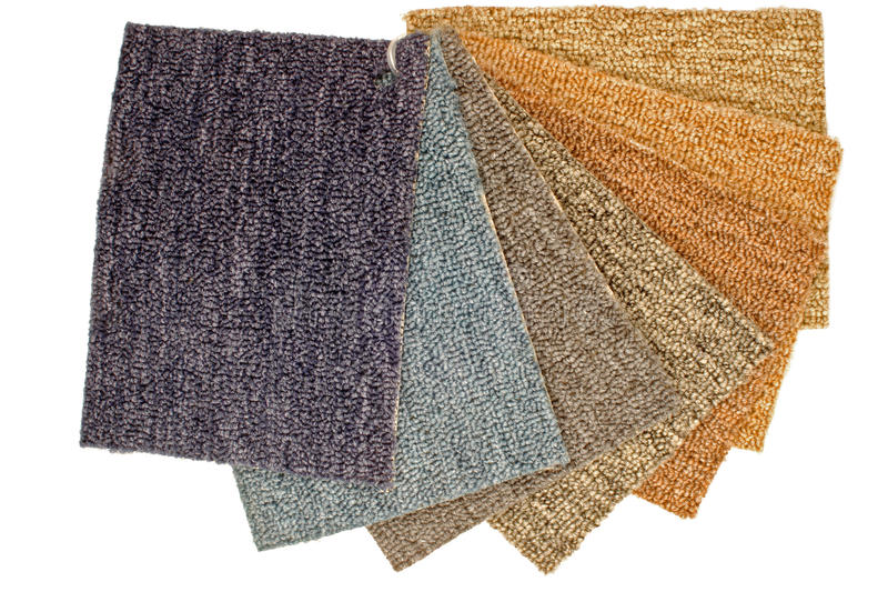 Color Carpet Samples stock image