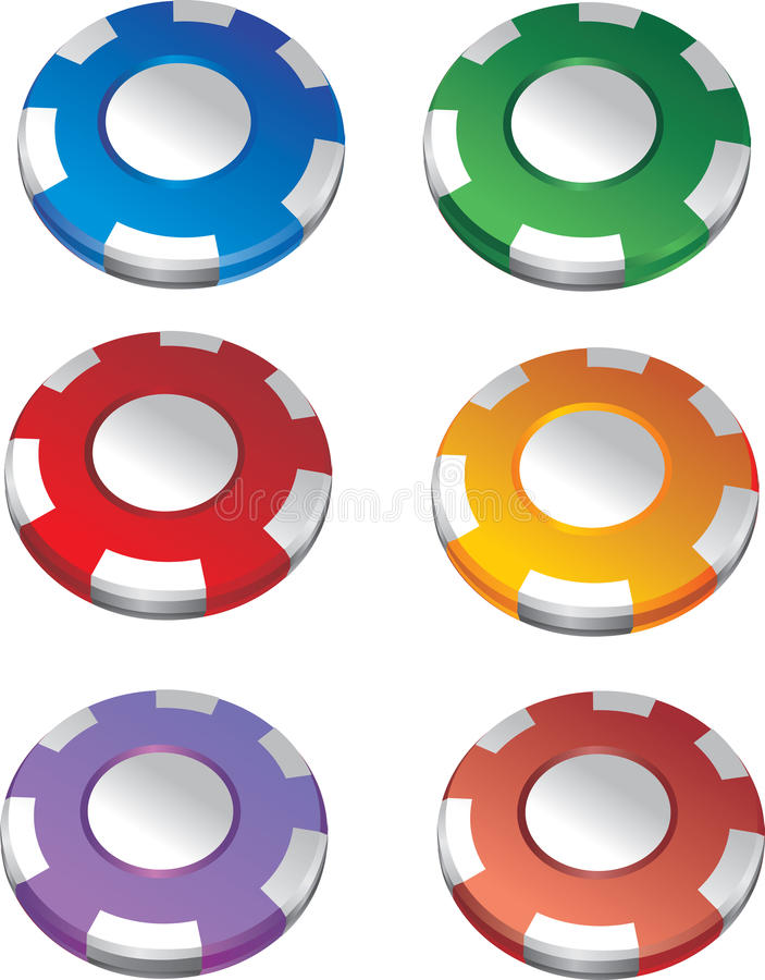 Download Color casino chips stock vector. Image of white, illustration - 13985000