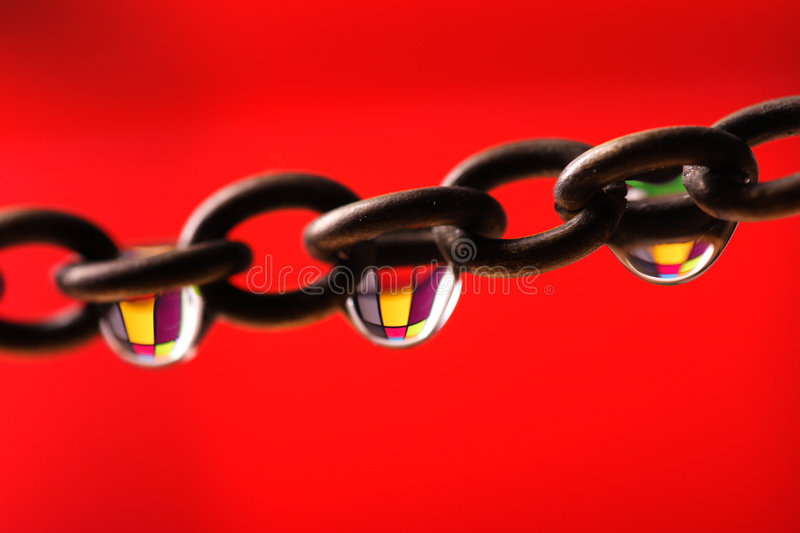 Color chain royalty free stock photos