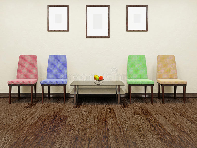 Download Color chairs stock illustration. Illustration of buildings - 31925837