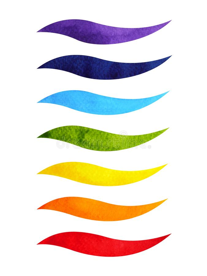 Color chakra symbol concept, watercolor painting hand drawing icon logo, illustration design sign stock image