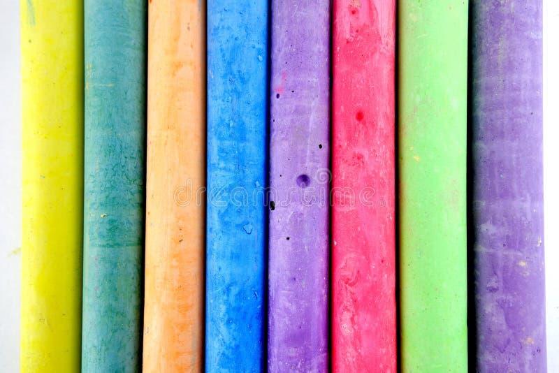 Color chalks stock photo