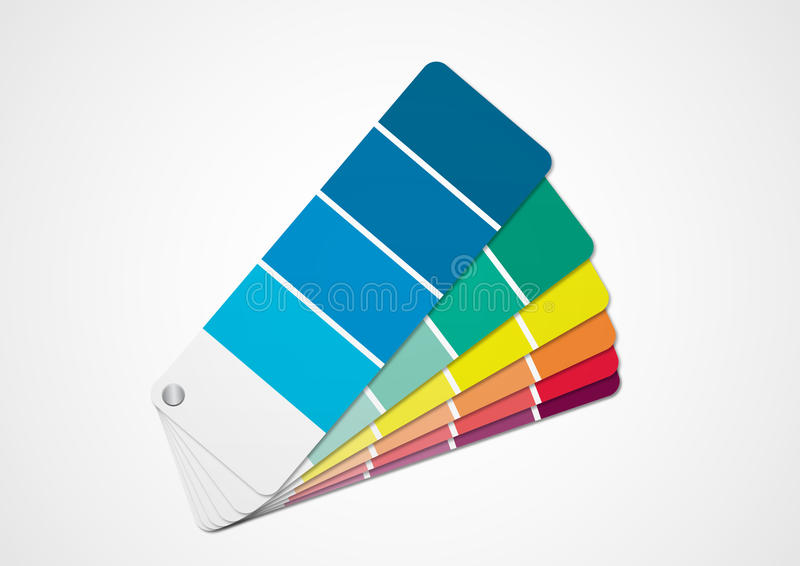 Color chart. Illustration of color chart with colors choice vector illustration
