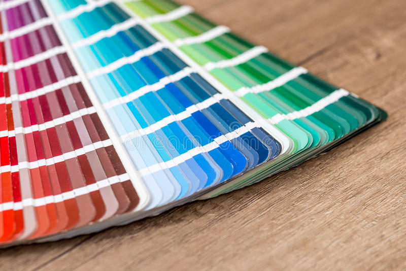 Color chart guide royalty free stock image
