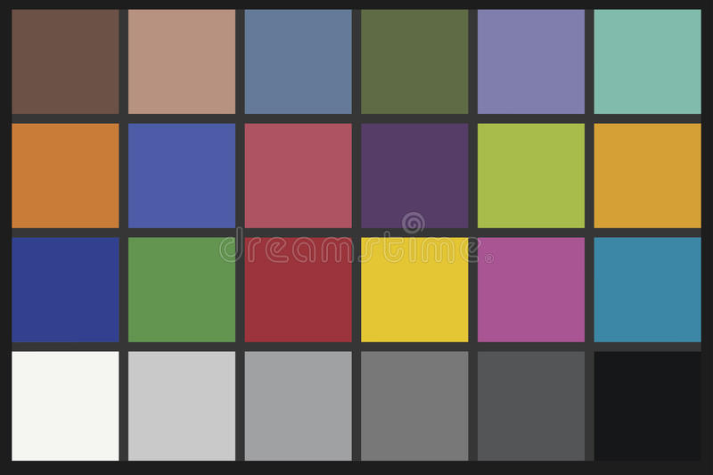Download Color Checker chart stock illustration. Image of pattern - 11802547