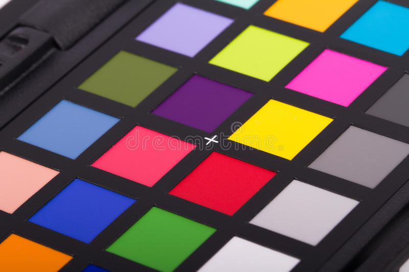 Color Checker Equipment. Close up view of color checker equipment of professional photographer for adjust and balance photograph royalty free stock photos