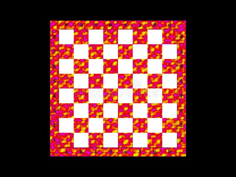 Color chessboard. On the black background royalty free illustration