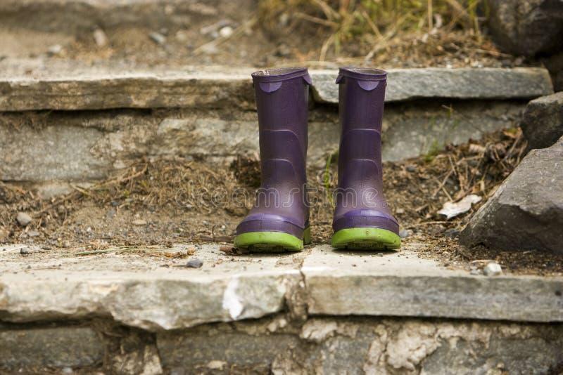Color Children's Rain Boots stock photo