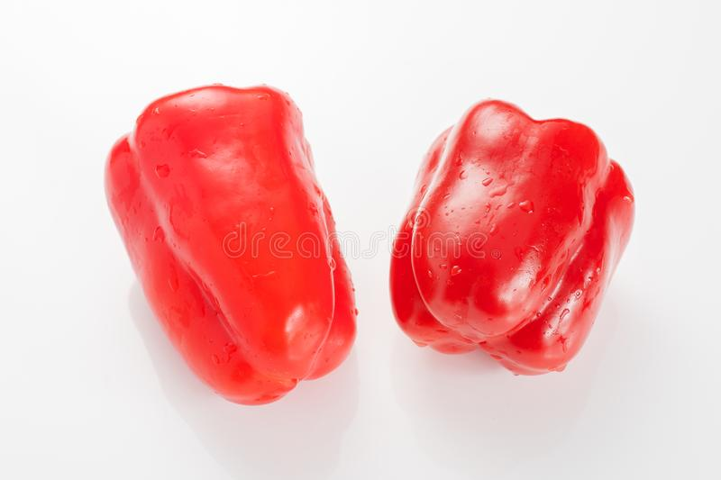 Color chilli pepper on white background royalty free stock images
