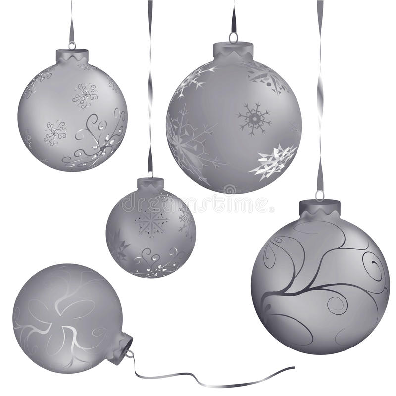 Color christmas balls vector illustration