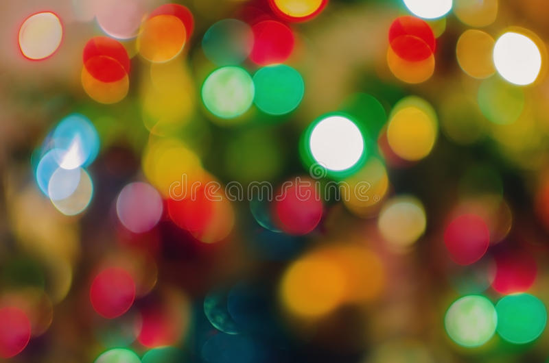 Color christmas lights background royalty free stock image