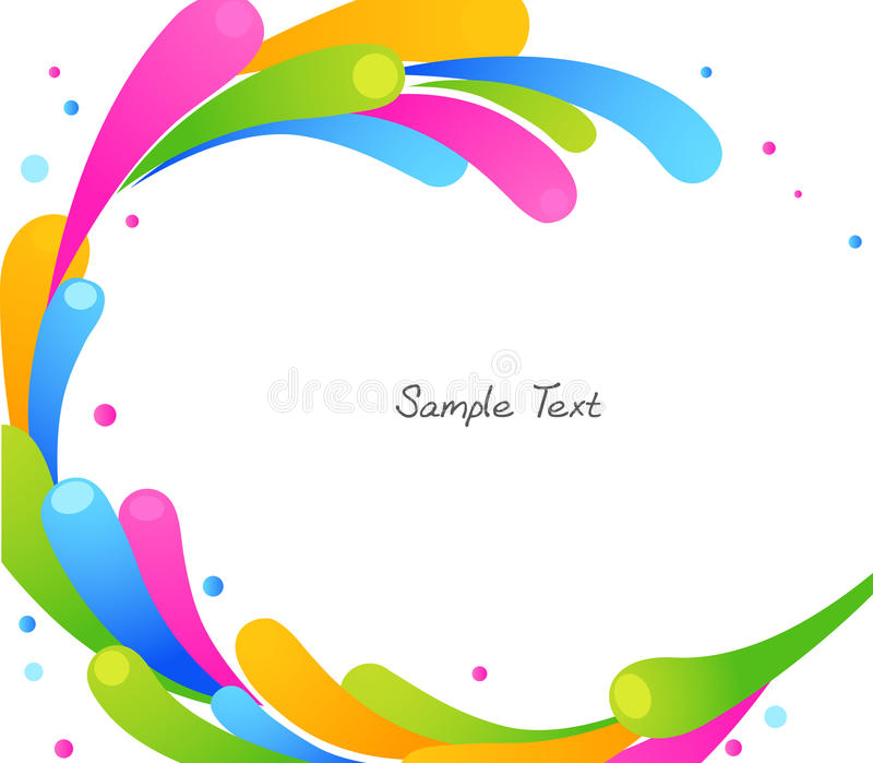 Color circle. Water background,illustration royalty free illustration