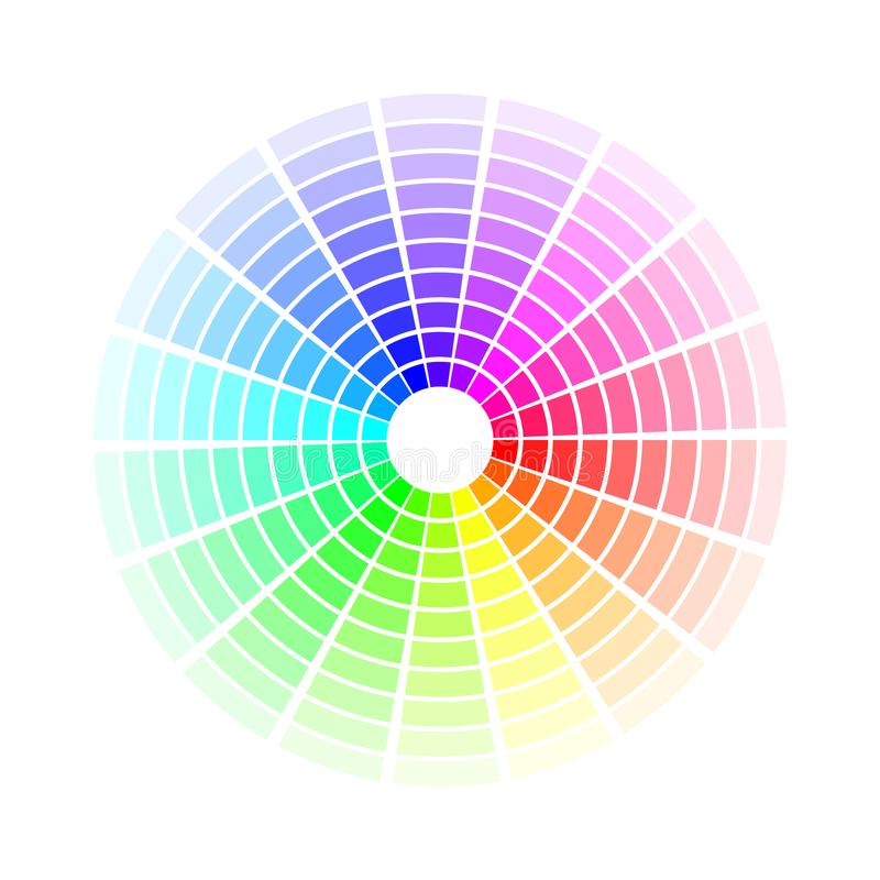 Color circle. Bright colorful rainbow shades. Vector illustration isolated on white background stock illustration