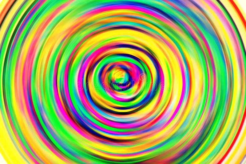 Color circle. Hand-painted color circle, ring with many colors stock illustration