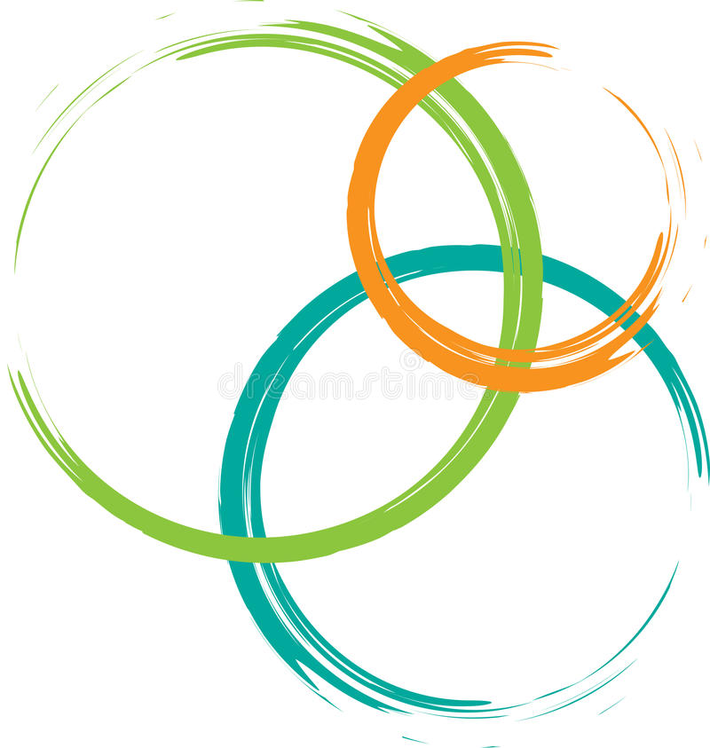 Color circle logo royalty free stock photography