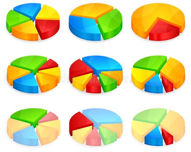 Color circular diagrams vector illustration