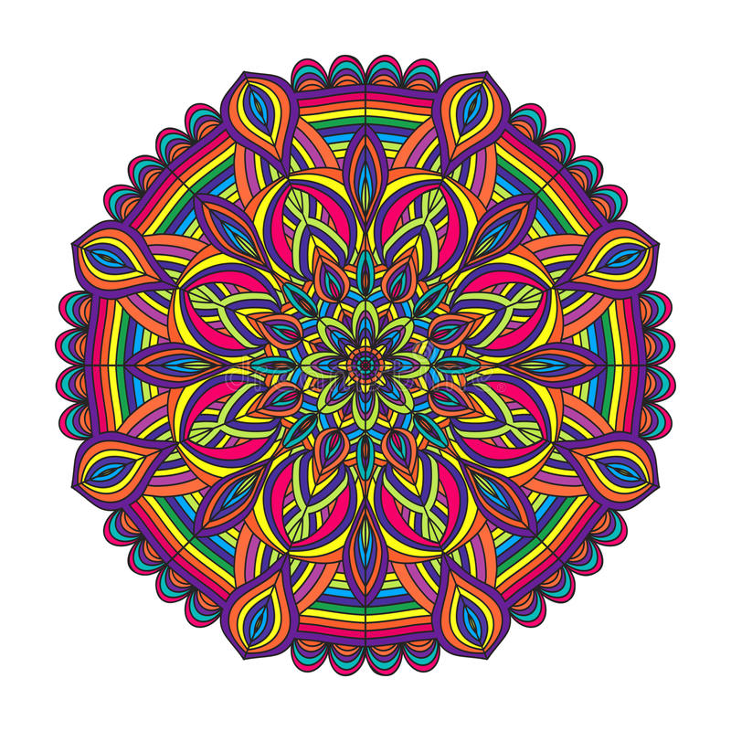 Color circular pattern royalty free illustration