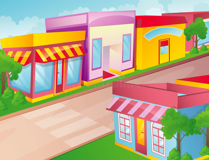 Download Color city stock vector. Image of buildings, cityscape - 26139868
