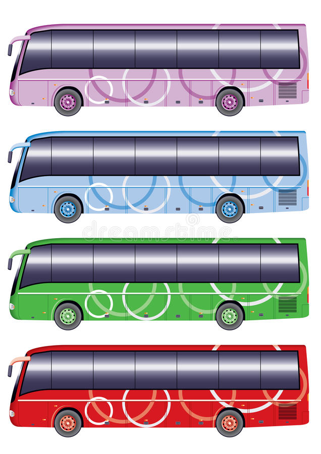 Free Color City Bus Royalty Free Stock Photography - 13845807