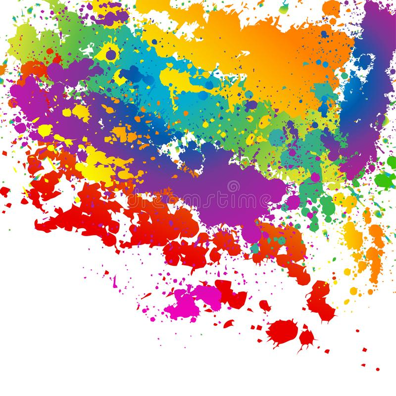 Color? ?clabousse le fond illustration libre de droits