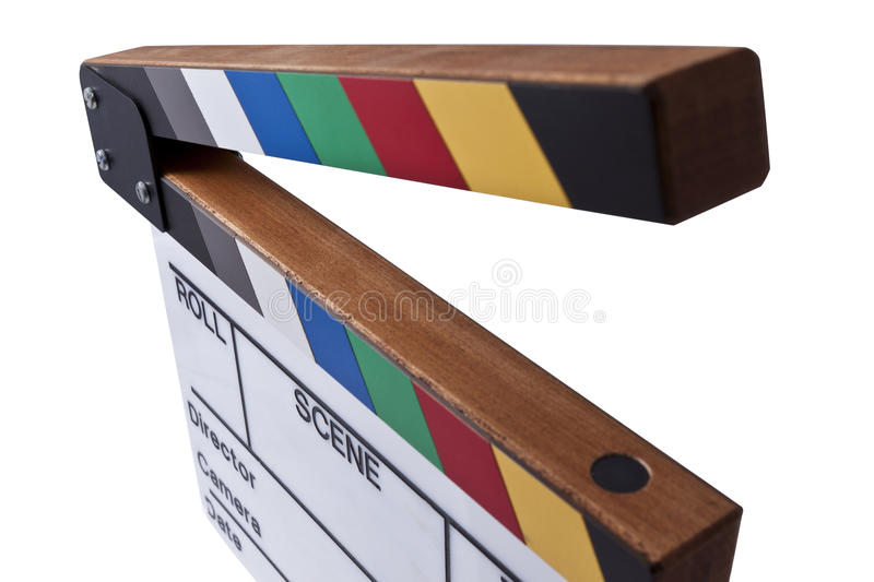 Download Color clapperboard top stock photo. Image of industry - 21222844