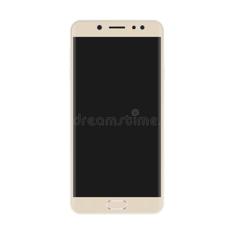Color claro Smartphone con el vector negro eps10 de la pantalla Icono realista del smartphone ilustración del vector