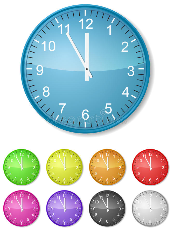Download Color clock stock vector. Illustration of office, green - 18115082