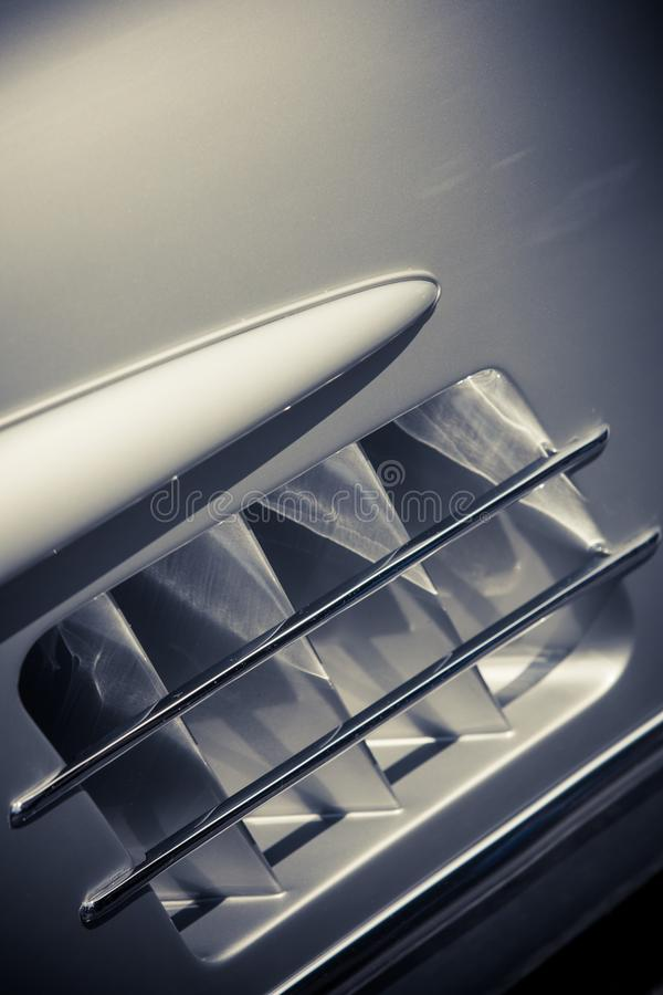 Air Vents Of A Vintage Classic Car Stock Image - Image of