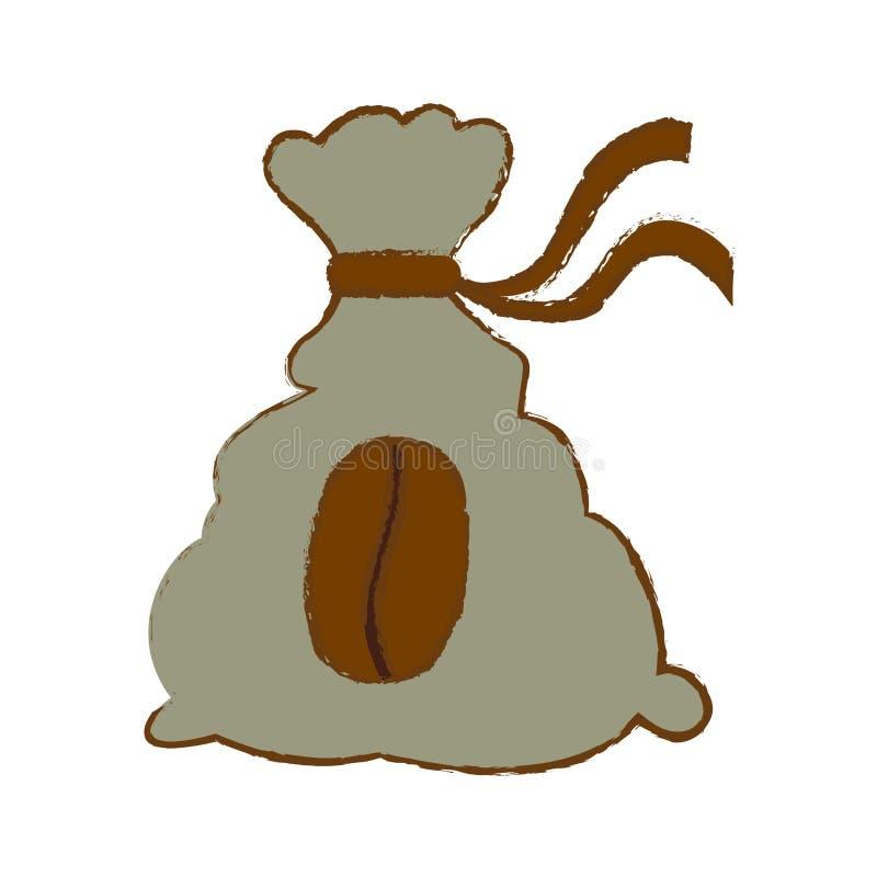 Color coffee sack icon image. Illustration stock illustration