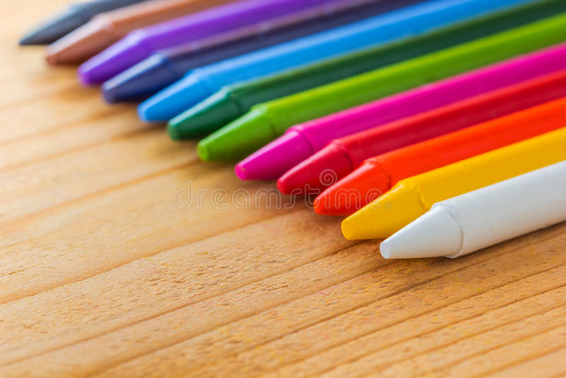 Color colorido del creyón fotografía de archivo