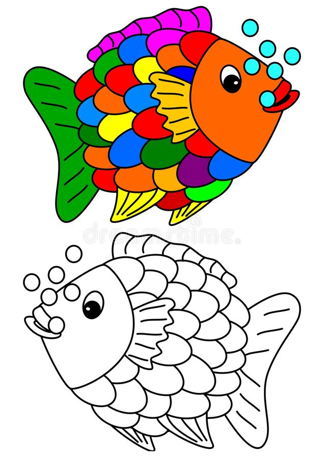 download color coloring book for young children colorful fish stock vector image 63979396 - Colorful Fish Book